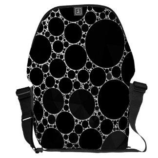 Black Shiny Bling Pattern Messenger Bag