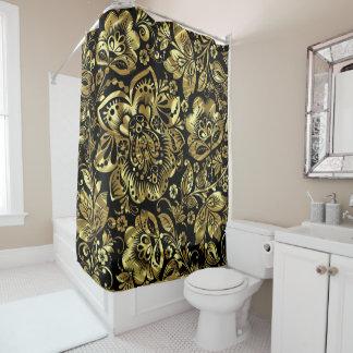 Shiny Gold Shower Curtains   Zazzle