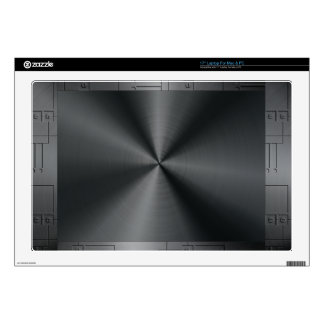 """Black Shiny Metallic Stainless Steel Look Decal For 17"""" Laptop"""