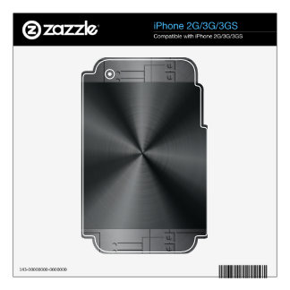 Black Shiny Metallic Stainless Steel Look iPhone 3GS Skin
