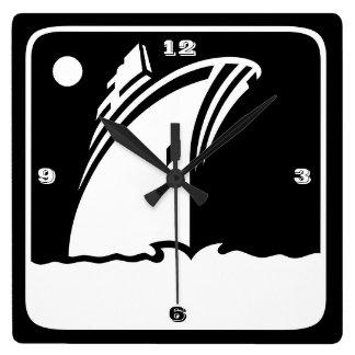 Black Ship Cruise - Retro Style Wall Clock