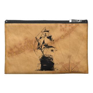 Black Ship Silhouette Travel Accessory Bag