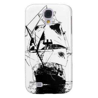 Black Ship Silhouette Samsung Galaxy S4 Cover