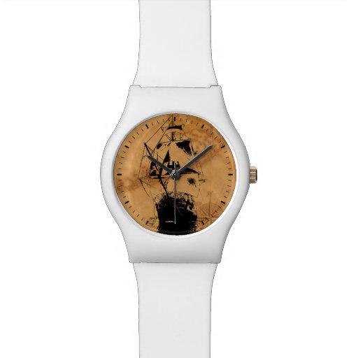 Black Ship Silhouette Wristwatches
