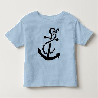 Black Ship's Anchor Nautical Marine Themed Toddler T-shirt