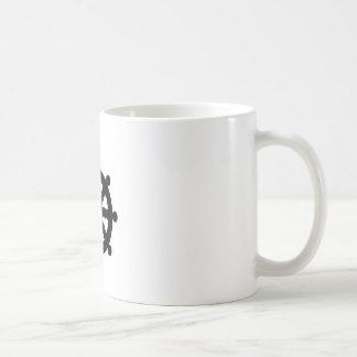 Black Ship's Wheel Coffee Mug