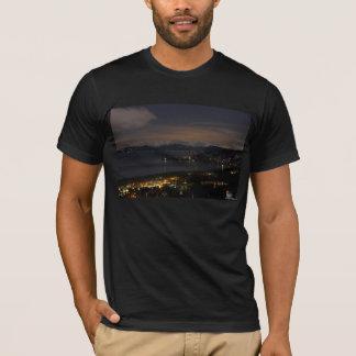 Black Shirt with Night Scenery
