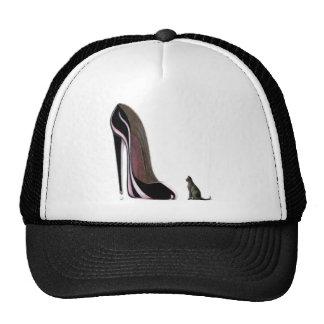 Black shoe and cat worship! trucker hat