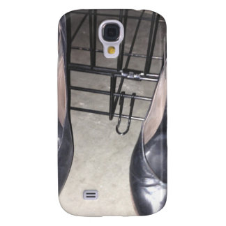 BLACK SHOES AND CAGE GALAXY S4 CASES