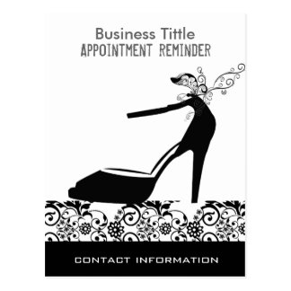 Black Shoes Fashion Makeup Customer Appointment Postcard