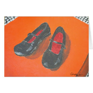 Black Shoes Painting Card
