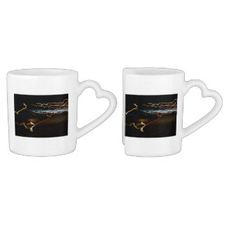 black shooter coffee mug set
