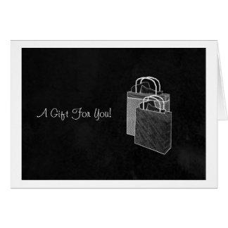 Black Shopping Spree Money Enclosed Card