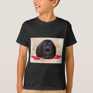 Black Short Haired Romance Guinea Pig T-Shirt