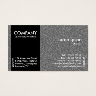 Black SideBand - Mid Gray Embossed Texture Business Card