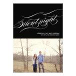 Black Silent Night Christmas Photo Flat Cards