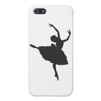 Black Silhouette Ballet Dancer Cover For iPhone SE/5/5s