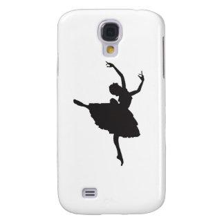 Black Silhouette Ballet Dancer Galaxy S4 Case