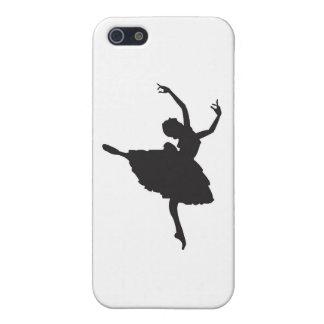 Black Silhouette Ballet Dancer iPhone SE/5/5s Cover