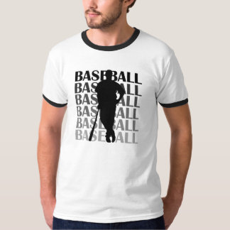 Black Silhouette Baseball Player T-shirts and Gift
