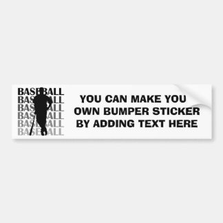 Black Silhouette Baseball Player T-shirts and Gift Bumper Sticker