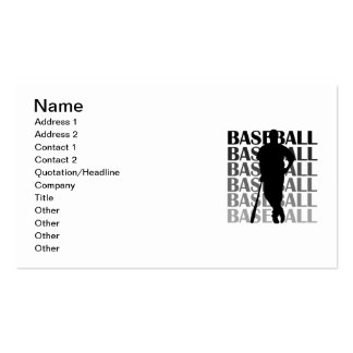 Black Silhouette Baseball Player T-shirts and Gift Business Card