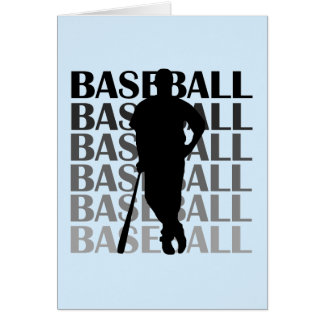 Black Silhouette Baseball Player T-shirts and Gift Greeting Cards