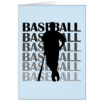 Black Silhouette Baseball Player T-shirts and Gift Greeting Card