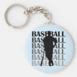 Black Silhouette Baseball Player T-shirts and Gift Keychain