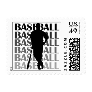 Black Silhouette Baseball Player T-shirts and Gift Stamps