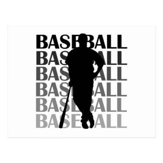 Black Silhouette Baseball Player T-shirts and Gift Postcard