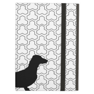 Black Silhouette Dachshund iPad Air Cover
