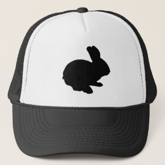 Black Silhouette Easter Bunny Hat