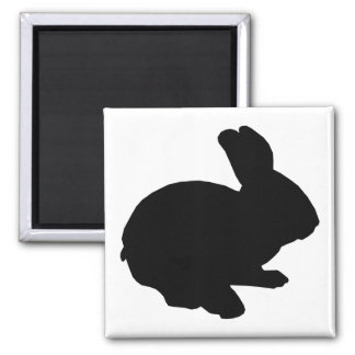 Black Silhouette Easter Bunny Magnet