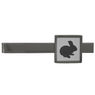 Black Silhouette Easter Bunny Tie Bar