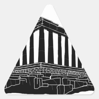 Black silhouette of Parthenon Triangle Sticker