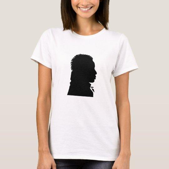 black silhouette portrait T-Shirt
