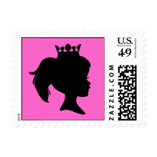 Black Silhouette Princess T-shirts and Gifts Postage