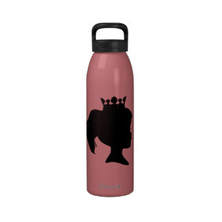 Black Silhouette Princess T-shirts and Gifts Drinking Bottle