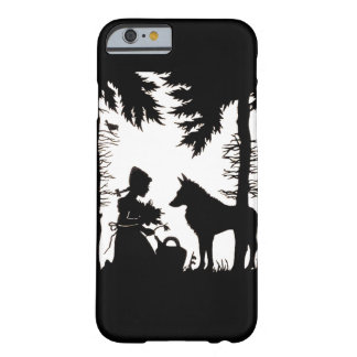 Black Silhouette Red Riding Hood Wolf Woods Barely There iPhone 6 Case
