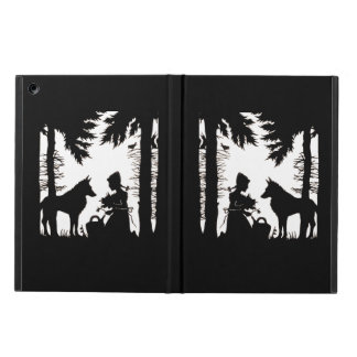 Black Silhouette Red Riding Hood Wolf Woods iPad Air Case