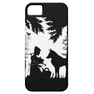 Black Silhouette Red Riding Hood Wolf Woods iPhone SE/5/5s Case