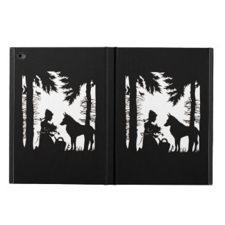 Black Silhouette Red Riding Hood Wolf Woods Powis iPad Air 2 Case