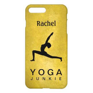 Black Silhouette Yoga Warrior Pose Woman Matte iPhone 7 Plus Case