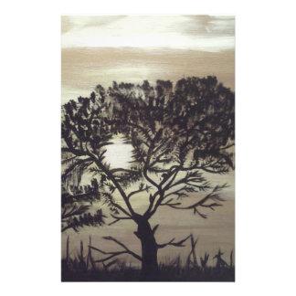 "Black Silhoulette Tree.jpg 5.5"" X 8.5"" Flyer"