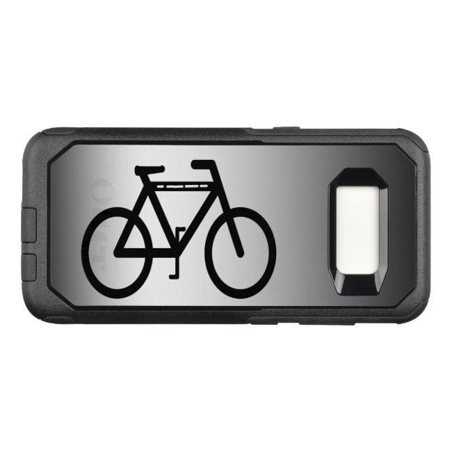 Black Silver Bicycle OtterBox Galaxy S8 Case