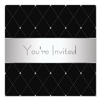 Black Silver Black Tie Corporate Party Card