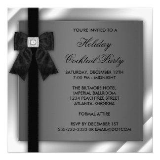 Black Silver Black Tie Party Black Tie Formal Announcements