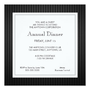Business dinner invitations zazzle black silver business professional dinner invitation friedricerecipe Image collections