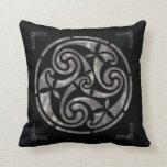 Black & Silver Celtic DECOR Throw Pillow